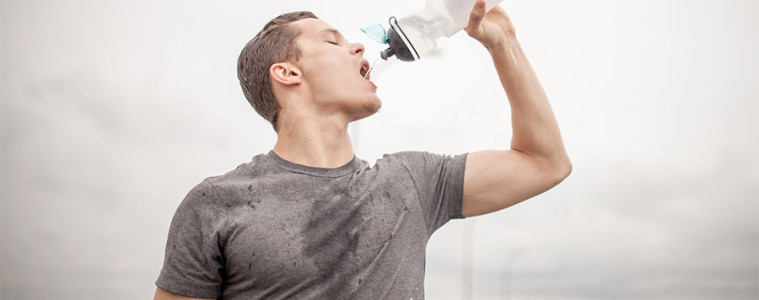 Drinking water after workout